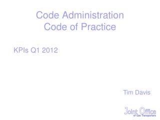 Code Administration Code of Practice