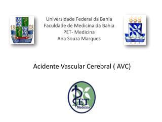 Universidade Federal da Bahia Faculdade de Medicina da Bahia PET- Medicina Ana Souza Marques