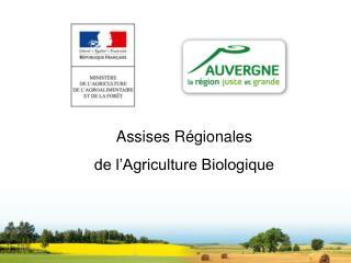 Assises Régionales de l'Agriculture Biologique