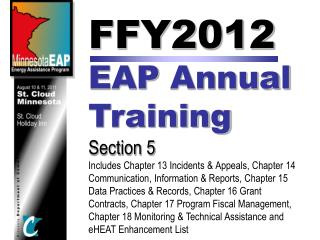 FFY2012  EAP  Annual  Training Section 5