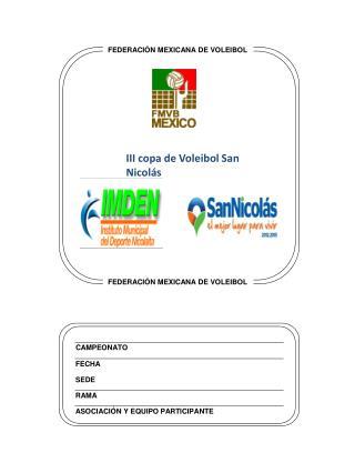 FEDERACIÓN MEXICANA DE VOLEIBOL