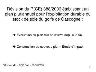 GT zone VIII – CCR Sud – 21/10/2010