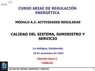 CURSO ARIAE DE REGULACIÓN ENERGÉTICA