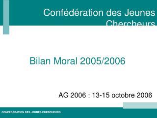 AG 2006 : 13-15 octobre 2006