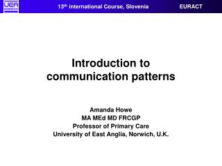 Introduction to  communication patterns
