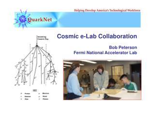 Cosmic e-Lab Collaboration Bob Peterson Fermi National Accelerator Lab