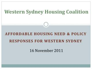 Western Sydney Housing  Coalition