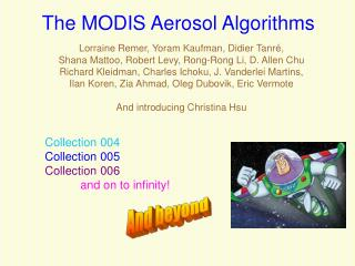 The MODIS Aerosol Algorithms