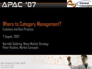 Where to Category Management?