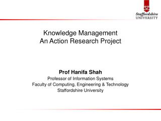 Knowledge Management An Action Research Project