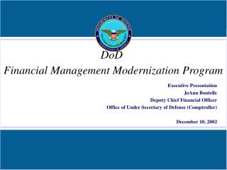 DoD Financial Management Modernization Program