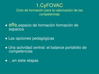 1.CyFOVAC  Ciclo de formación para la valorización de las competencias