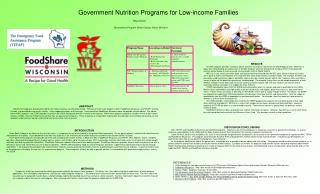 Government Nutrition Programs for Low-income Families