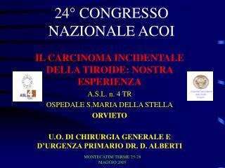 24° CONGRESSO NAZIONALE ACOI