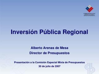 Inversión Pública Regional