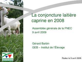 Gérard Barbin GEB – Institut de l'Élevage