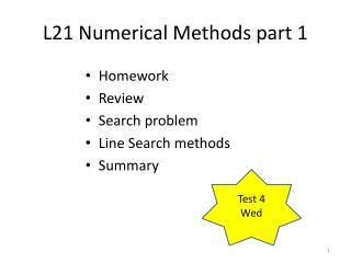 L21 Numerical Methods part 1