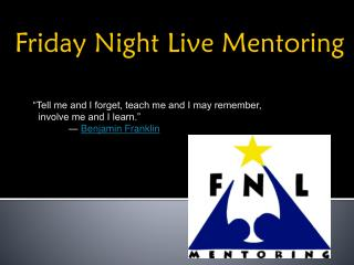 Friday Night Live Mentoring