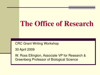 The Office of Research