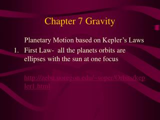 Chapter 7 Gravity
