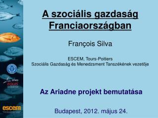 A szoci � lis gazdas � g Franciaorsz � gban Fran�ois Silva ESCEM,  Tours-Poitiers
