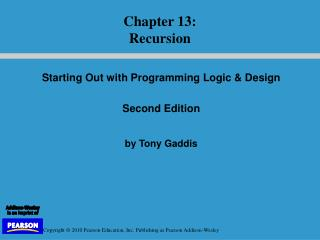 Starting Out with Programming Logic & Design   Second Edition by Tony Gaddis