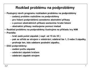 Rozklad problému na podproblémy