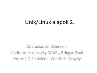 Unix/Linux alapok 2.