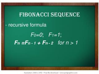 - recursive formula