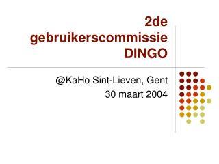 2de gebruikerscommissie DINGO
