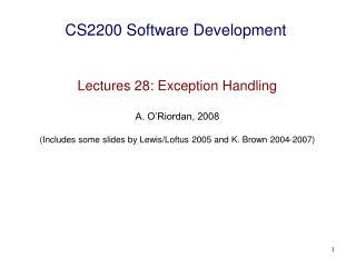 CS2200 Software Development