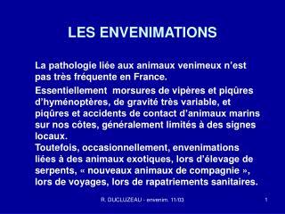 LES ENVENIMATIONS