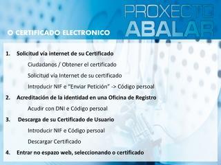 1.Solicitud vía internet de su Certificado  Ciudadanos  /  Obtener  el certificado