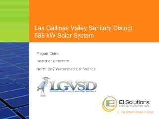 Las Gallinas Valley Sanitary District  588 kW Solar System
