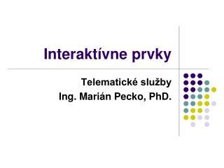 Interaktívne prvky