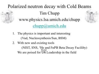 Polarized neutron decay with Cold Beams