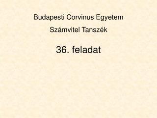 36. feladat