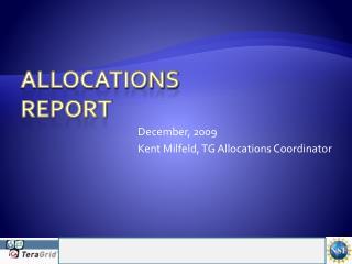 Allocations  Report
