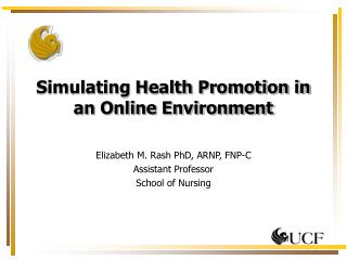 Simulating Health Promotion in an Online Environment