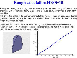 Rough calculation HFSSv10