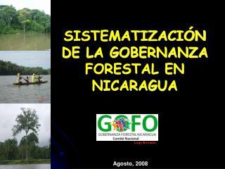SISTEMATIZACI�N  DE LA GOBERNANZA FORESTAL EN NICARAGUA