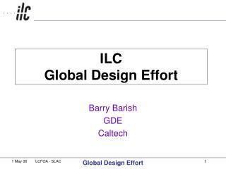 ILC  Global Design Effort