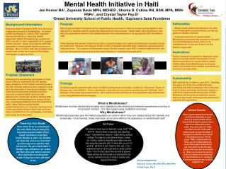Mental Health Initiative in Haiti