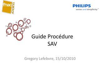 Guide Procédure  SAV