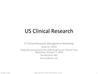 US Clinical Research