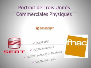 Portrait de Trois Unit�s Commerciales Physiques