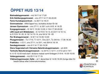 �PPET HUS 13/14
