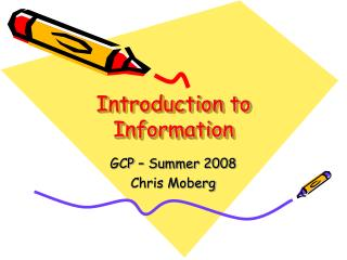 Introduction to Information