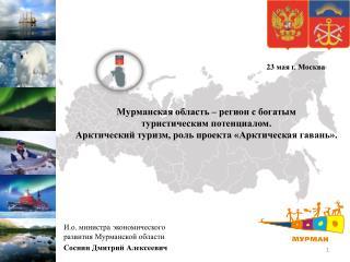 И.о. министра экономического развития Мурманской области Соснин Дмитрий Алексеевич