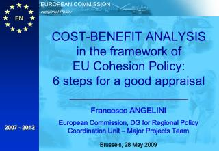 Francesco ANGELINI European Commission, DG for Regional Policy